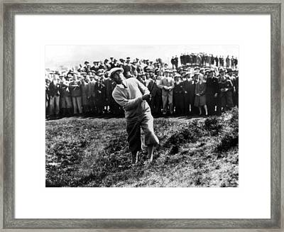 Bobby Jones At The British Amateur Golf Framed Print by Everett