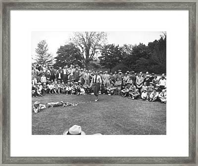 Bobby Jones Golf Demonstration Framed Print