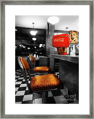 Bobby Sox 50's Diner 2 Framed Print by Bob Christopher