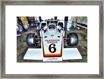 Bobby Unser's 1972 Indianapolis 500 Car. Framed Print