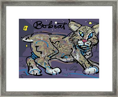 Bobcat Framed Print by Brett LaGue