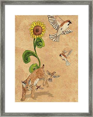 Bobcats And Beeswax Framed Print by Teighlor Chaney