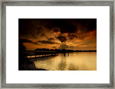 Boblo Dock Framed Print
