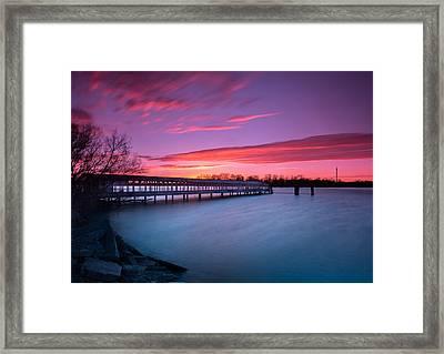 Boblo Ferry Dock  Framed Print