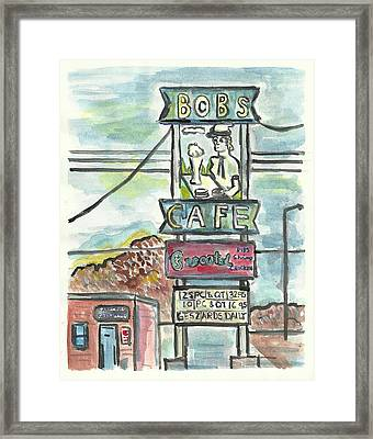 Bob's Cafe Framed Print by Matt Gaudian