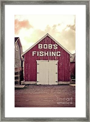 Bob's Fishing North Rustico Framed Print by Edward Fielding
