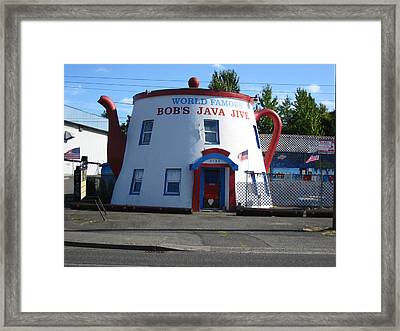 Bob's Java Jive Coffee Pot Framed Print