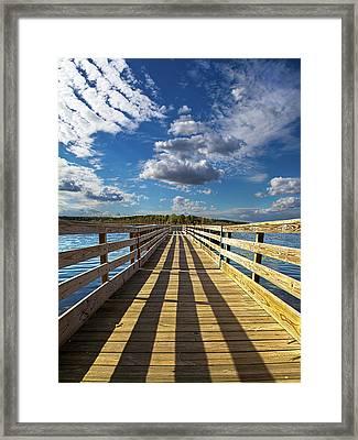 Bob's Pier Framed Print by Phil Koch