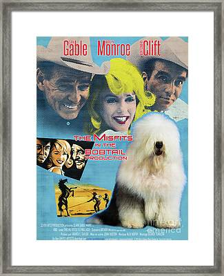 Bobtail -  Old English Sheepdog Art Canvas Print - The Misfits Movie Poster Framed Print