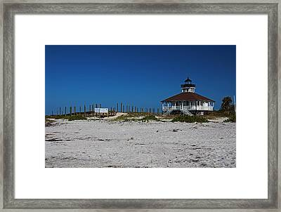 Framed Print featuring the photograph Boca Grande Lighthouse Ix by Michiale Schneider