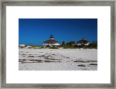 Framed Print featuring the photograph Boca Grande Lighthouse X by Michiale Schneider