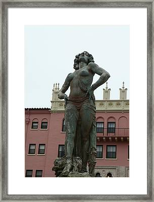 Boca Resort Statue Framed Print by Florene Welebny