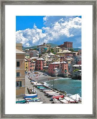 Boccadasse 2-genova, Italy Framed Print