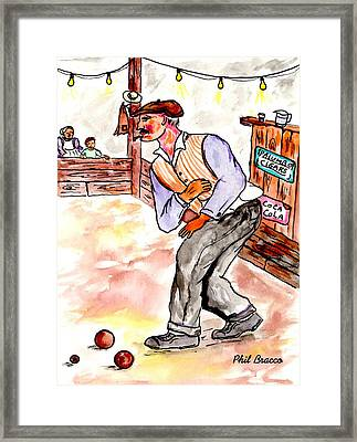 Bocce King Framed Print by Philip Bracco