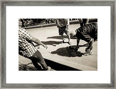 Bocci Battle Framed Print