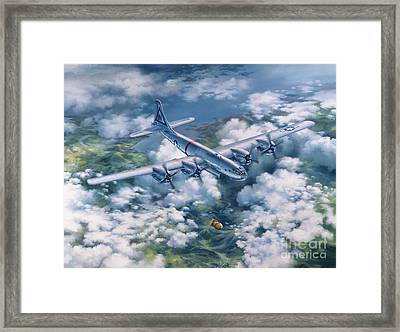 Dawn Of A Thousand Suns - Bockscar Over Nagasaki Framed Print