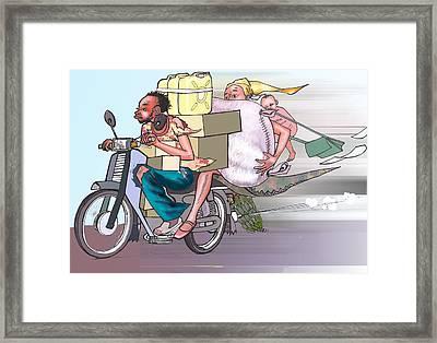 Boda-boda Framed Print by Okwir Isaac