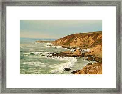 Bodega Bay Coastline  One Framed Print by Alberta Brown Buller