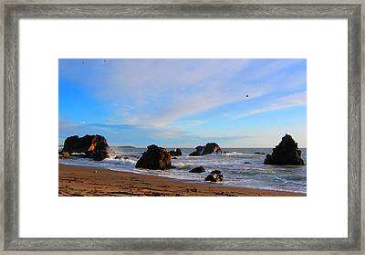 Bodega Bay Sunset Framed Print