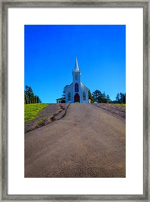 Bodega Church At Top Of Hill Framed Print by Garry Gay