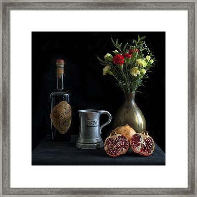 Bodegon Framed Print by Hans Wolfgang Muller Leg