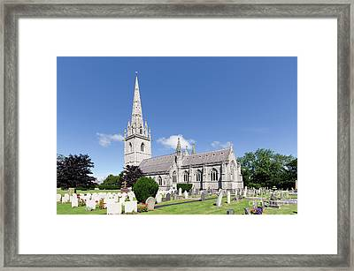 Bodelwyddan Church Framed Print by Steev Stamford