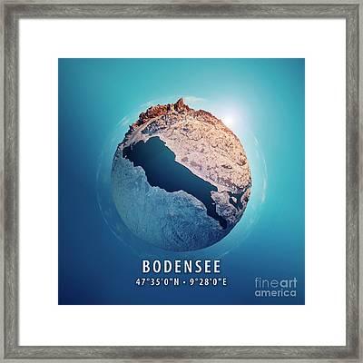 Bodensee 3d Little Planet 360-degree Sphere Panorama Framed Print
