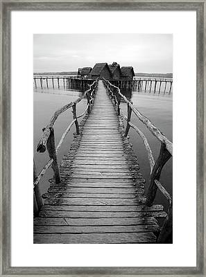 Bodensee Walkway B And W Framed Print