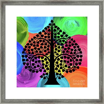 Bodhi Tree2_watercolor02-2 Framed Print by Bobbi Freelance