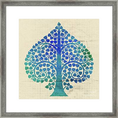 Bodhi Tree2_water Color01-3 Framed Print by Bobbi Freelance