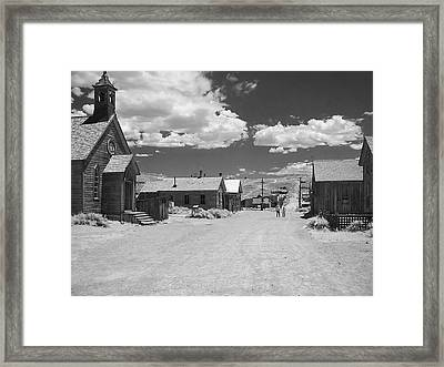 Bodie A Ghost Town Infrared  Framed Print