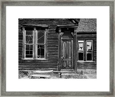 Framed Print featuring the photograph Bodie by Art Shimamura