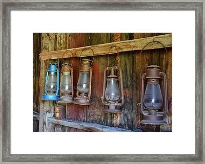 Bodie Blue Light Special Framed Print