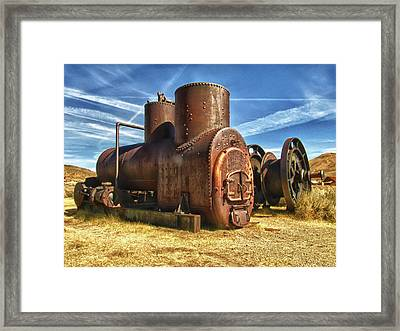 Old Boiler Bodie State Park Framed Print by James Hammond