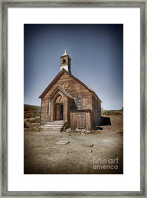 Framed Print featuring the photograph Bodie Church by Jim  Hatch