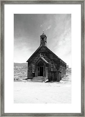 Bodie Church Framed Print by Michael Courtney