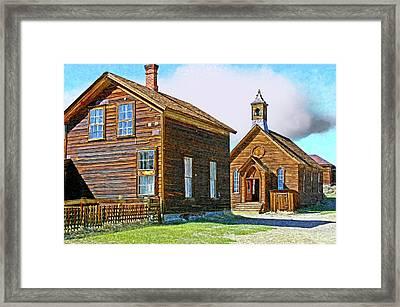 Bodie Church Stylized Eastern Sierra Photo Framed Print
