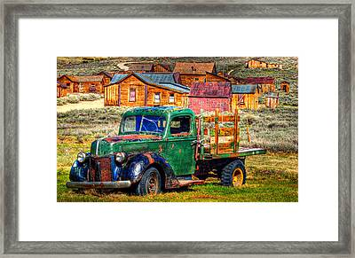 Bodie Ghost Town Green Truck Framed Print by Scott McGuire
