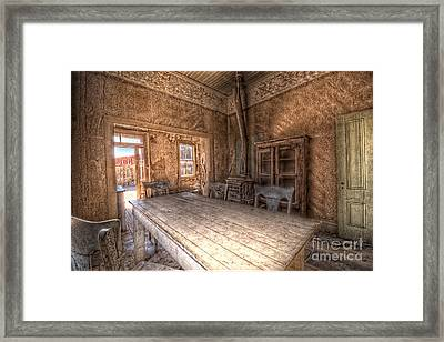 Bodie Harvest Table Framed Print by Rich Governali