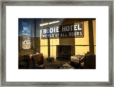 Bodie Hotel Framed Print by Cat Connor