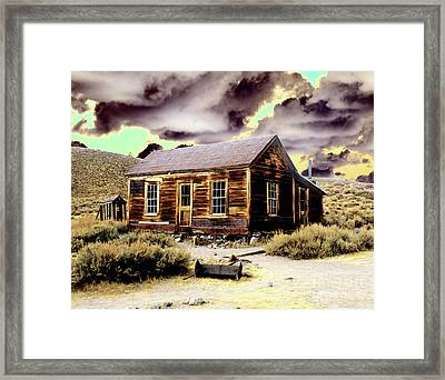 Framed Print featuring the photograph Bodie House by Jim and Emily Bush