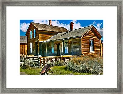 Bodie House Stylized Framed Print