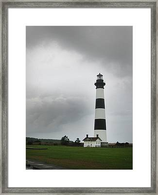 Bodie Island Light Nags Head  Framed Print by Richard Singleton