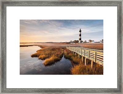 Bodie Island Lighthouse Autumn Coastal Marsh Framed Print by Mark VanDyke
