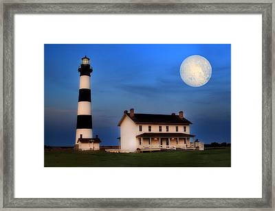 Bodie Island Lighthouse Framed Print by Cindy Haggerty