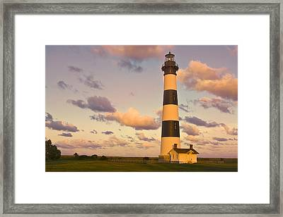 Framed Print featuring the photograph Bodie Island Lighthouse by Ken Barrett