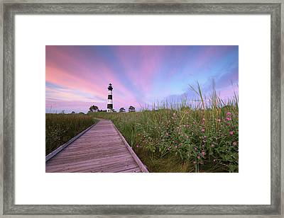 Bodie Island Obx Sunrise Framed Print by Mark VanDyke