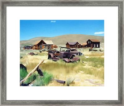 Bodie Framed Print by Kurt Van Wagner