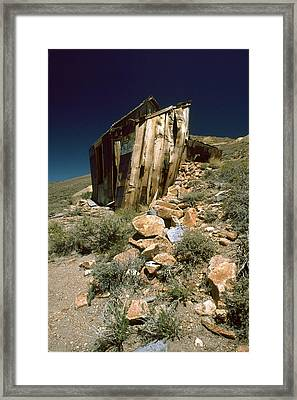 Bodie Outhouse Framed Print
