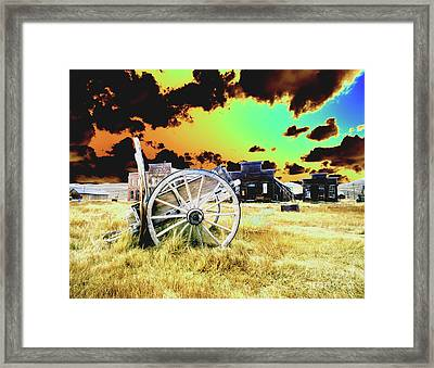 Framed Print featuring the photograph Bodie Wagon by Jim and Emily Bush